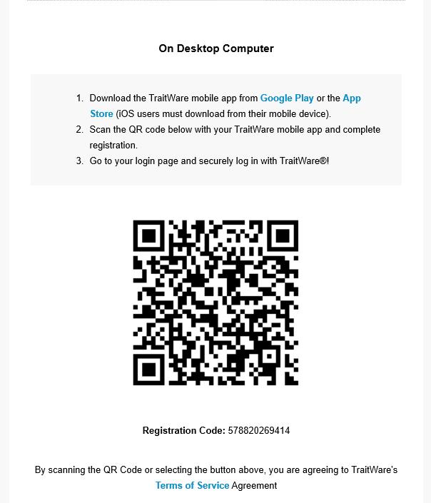 User Registration and Login - Documentation - TraitWare, Inc